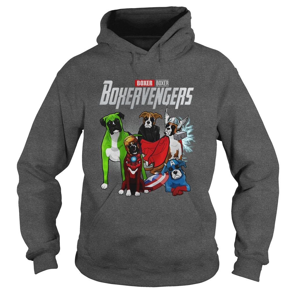Boxer Boxervengers Avengers Endgame hoodie