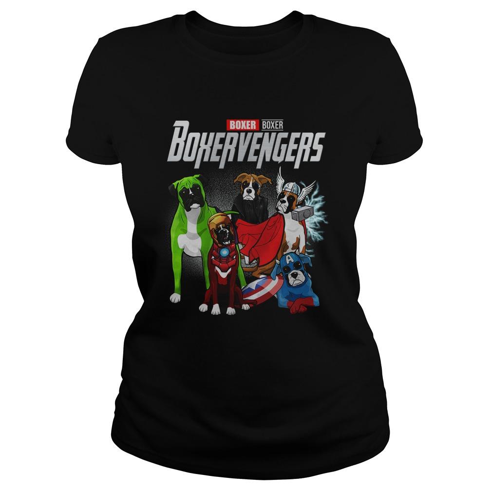 Boxer Boxervengers Avengers Endgame lady shirt