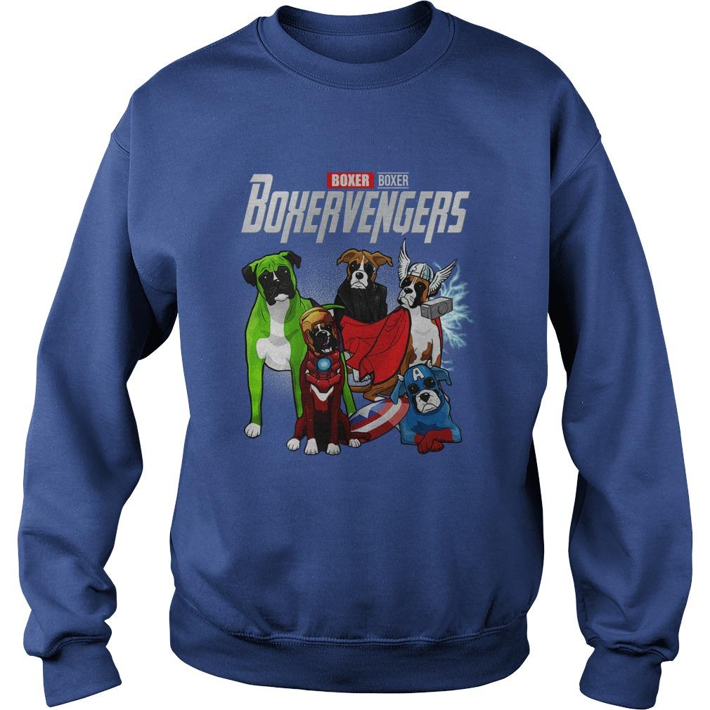 Boxer Boxervengers Avengers Endgame sweatshirt