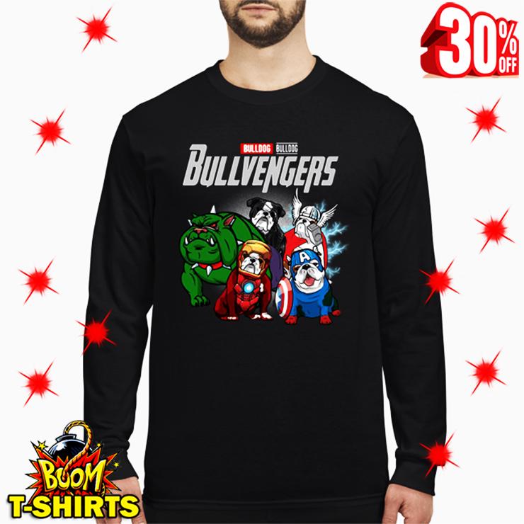 Bulldog Bullvengers Avengers Endgame long sleeve tee