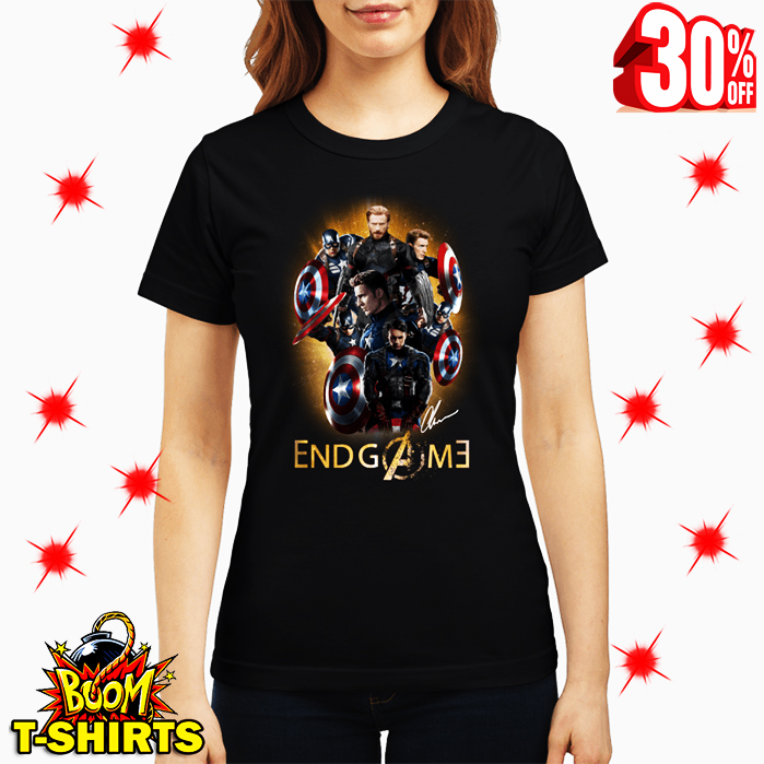 Captain America Avengers Endgame Signature lady shirt