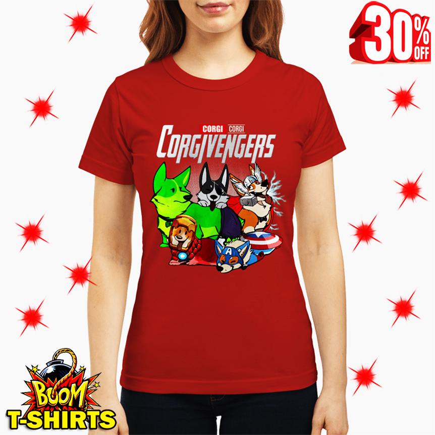 Corgi Corgivengers Avengers lady shirt