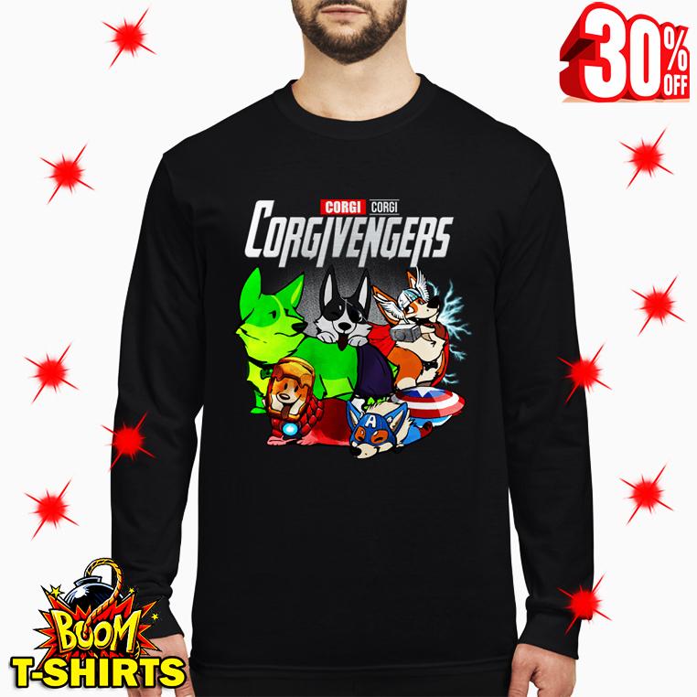 Corgi Corgivengers Avengers long sleeve tee