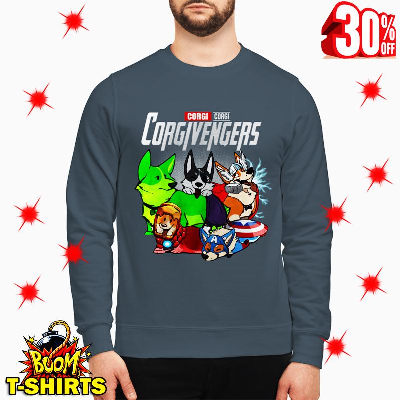 Corgi Corgivengers Avengers sweatshirt