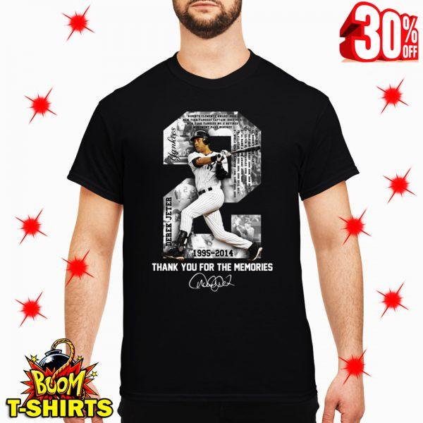 Derek Jeter MLB 1995 2014 Thank For The Memories Signature shirt