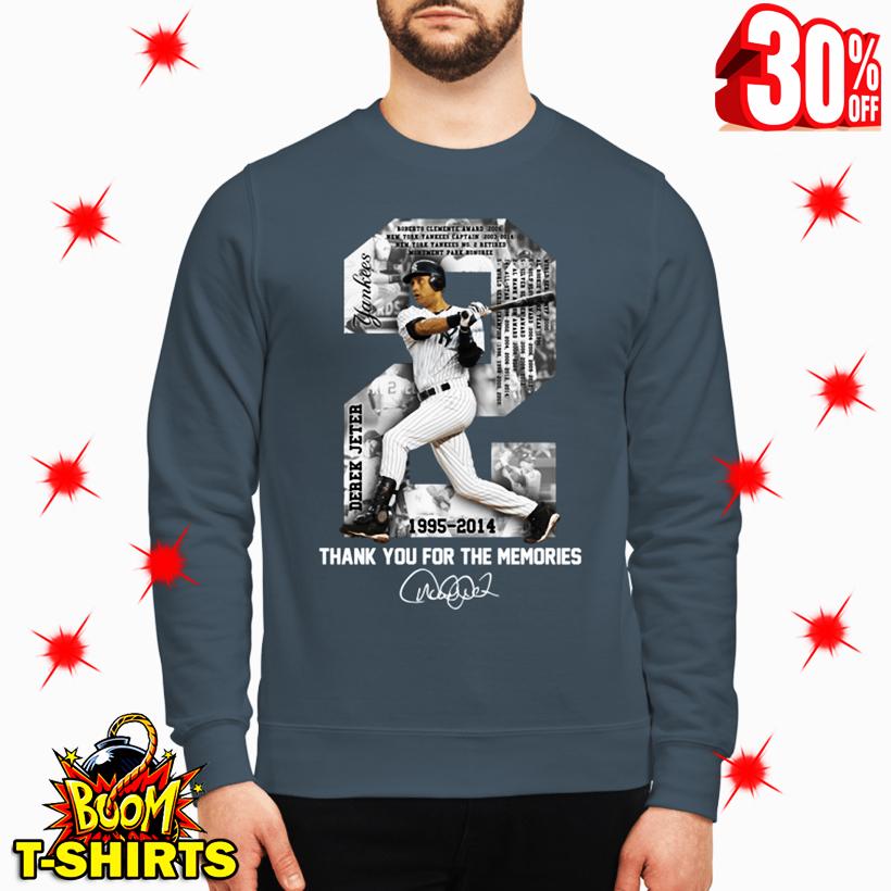 Derek Jeter MLB 1995 2014 Thank For The Memories Signature sweatshirt