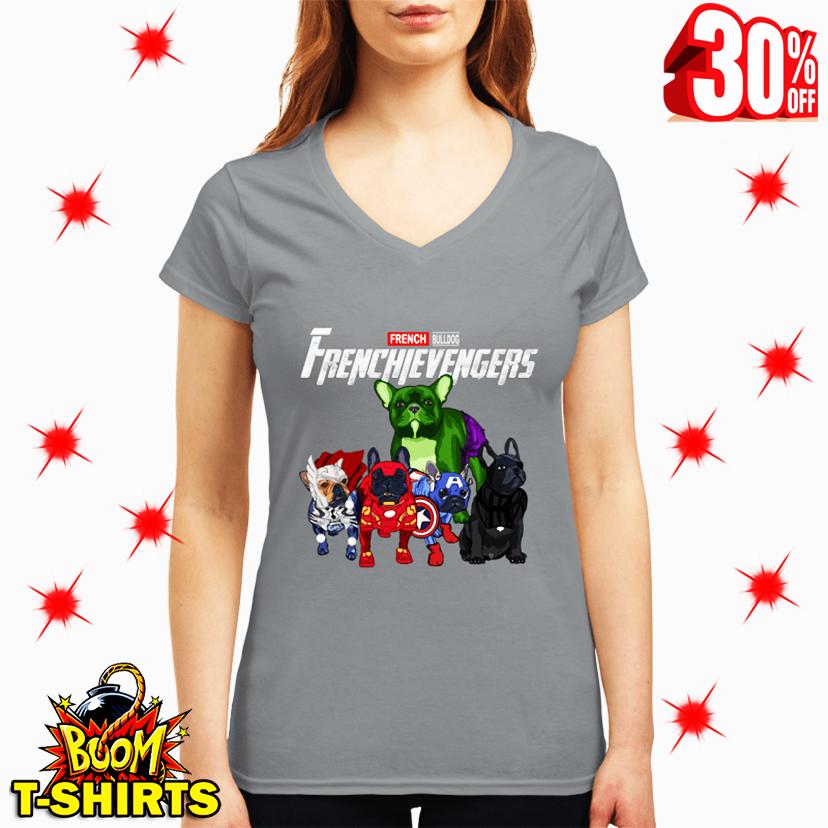 Frenchievengers French Bulldog Avengers v-neck
