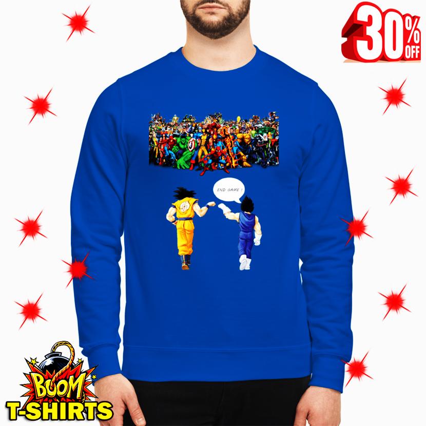 Goku and Vegeta Endgame sweatshirt