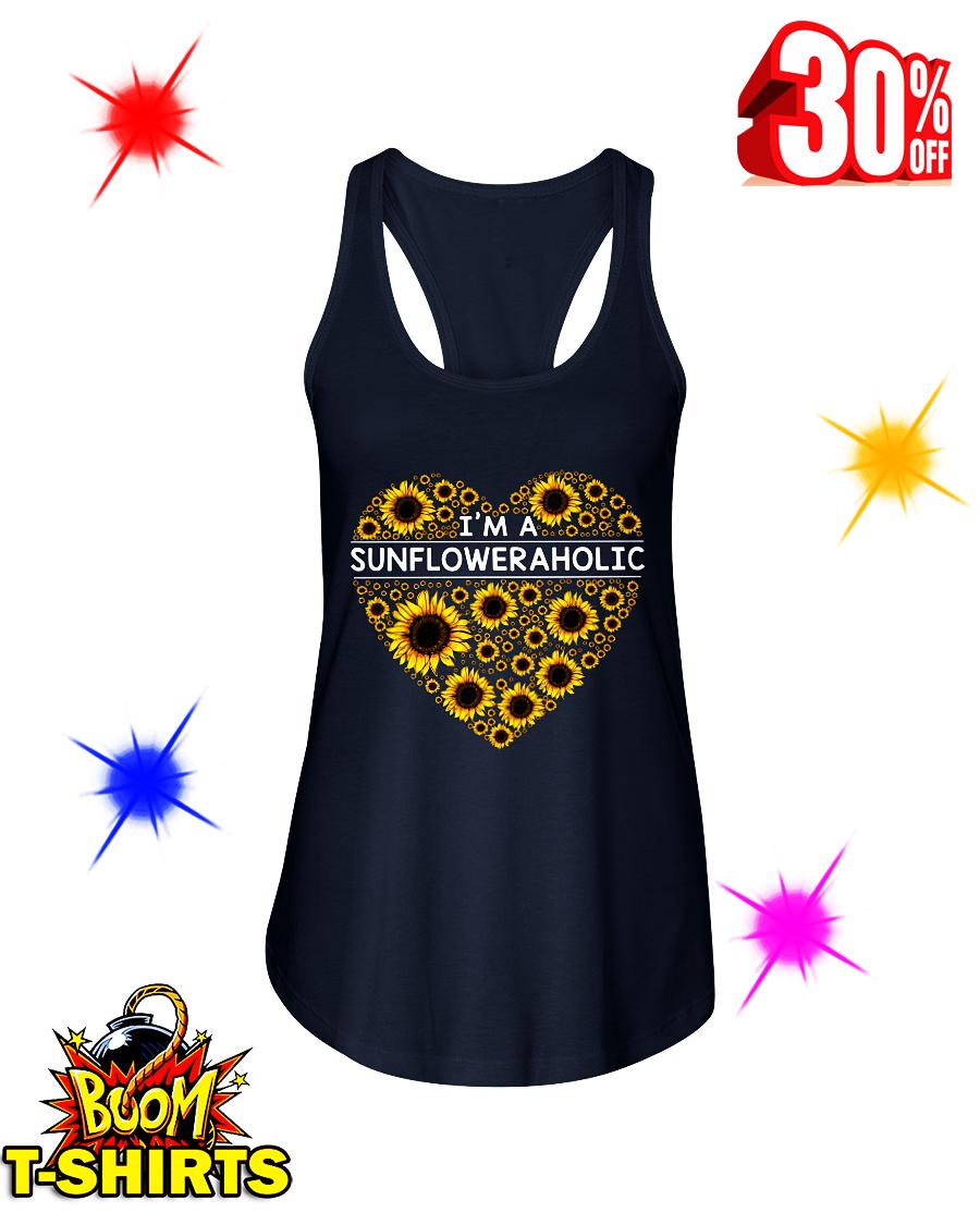 I'm A Sunfloweraholic flowy tank