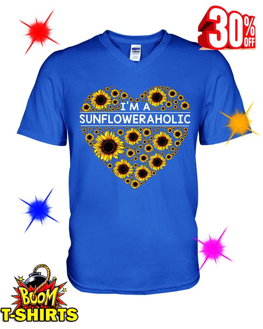 I'm A Sunfloweraholic v-neck