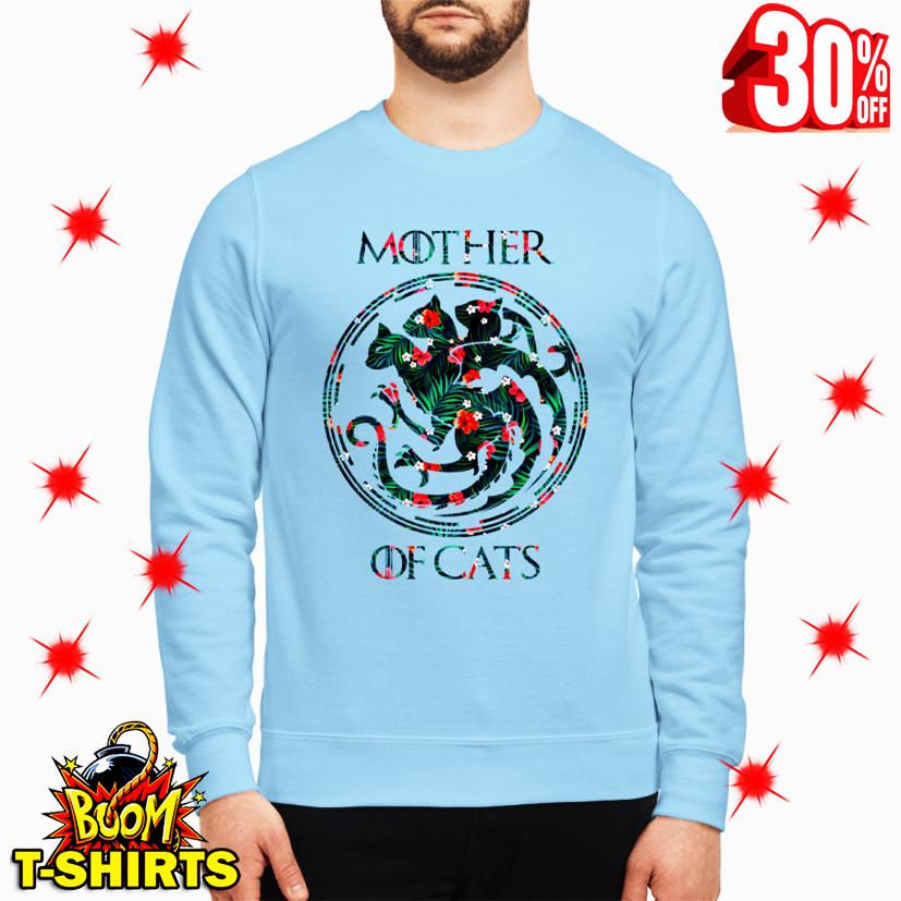 Mother Of Cats Floral sweatshirt