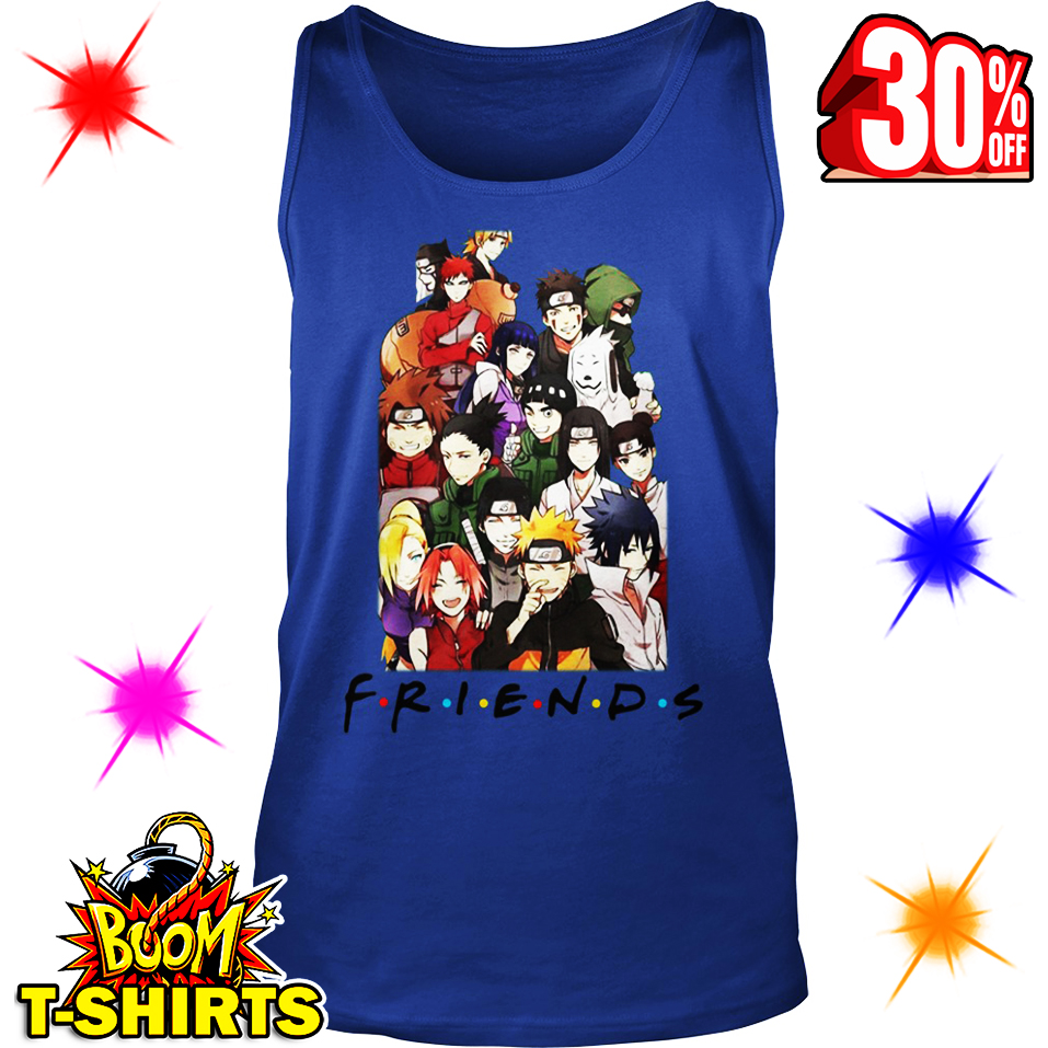 Naruto Friends Parody tank top