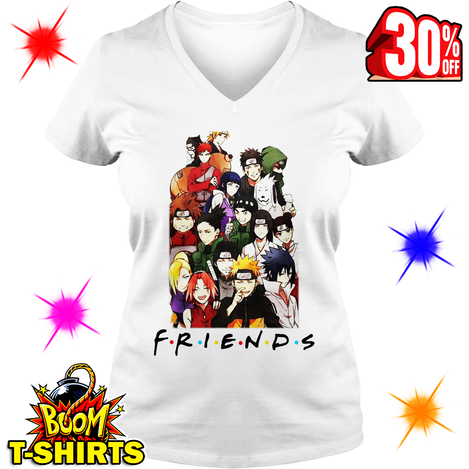 Naruto Friends Parody v-neck