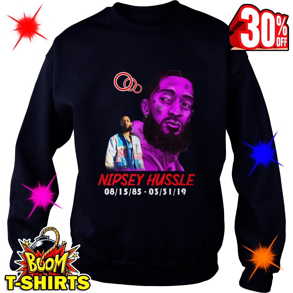 Nipsey Hussle 08.15.85-03.31.19 sweatshirt