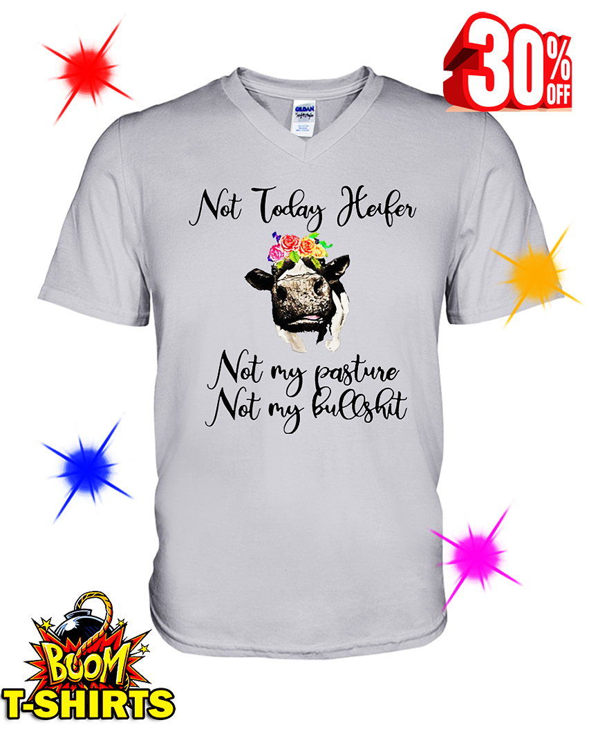 Not Today Heifer Not My Pasture Not My Bullshit v-neck