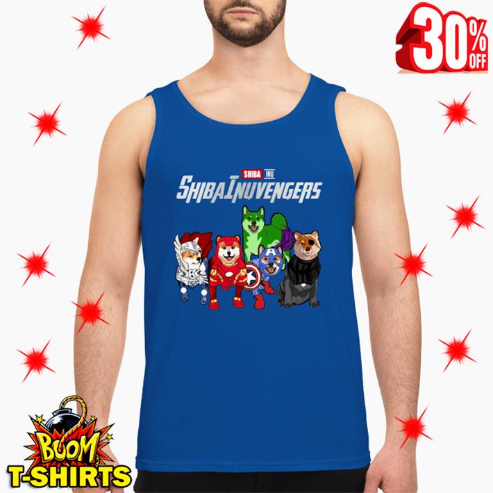 Shiba Inu Shibainuvengers Avengers tank top