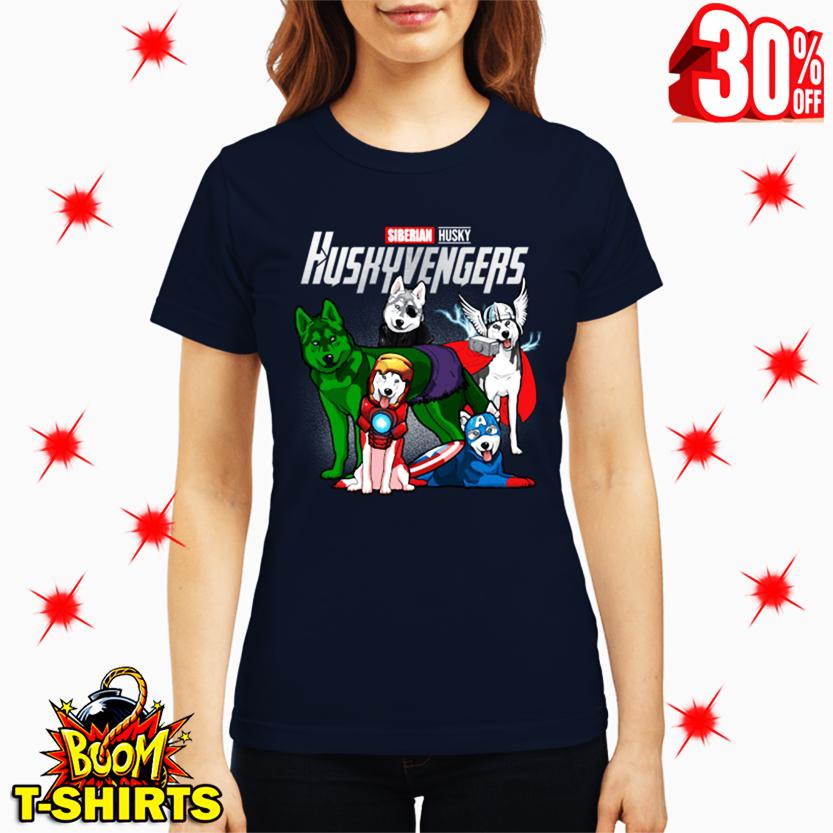 Siberian Husky Huskyvengers Avengers lady shirt