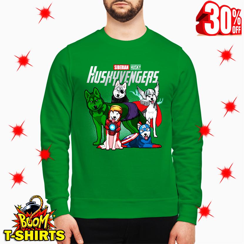 Siberian Husky Huskyvengers Avengers sweatshirt
