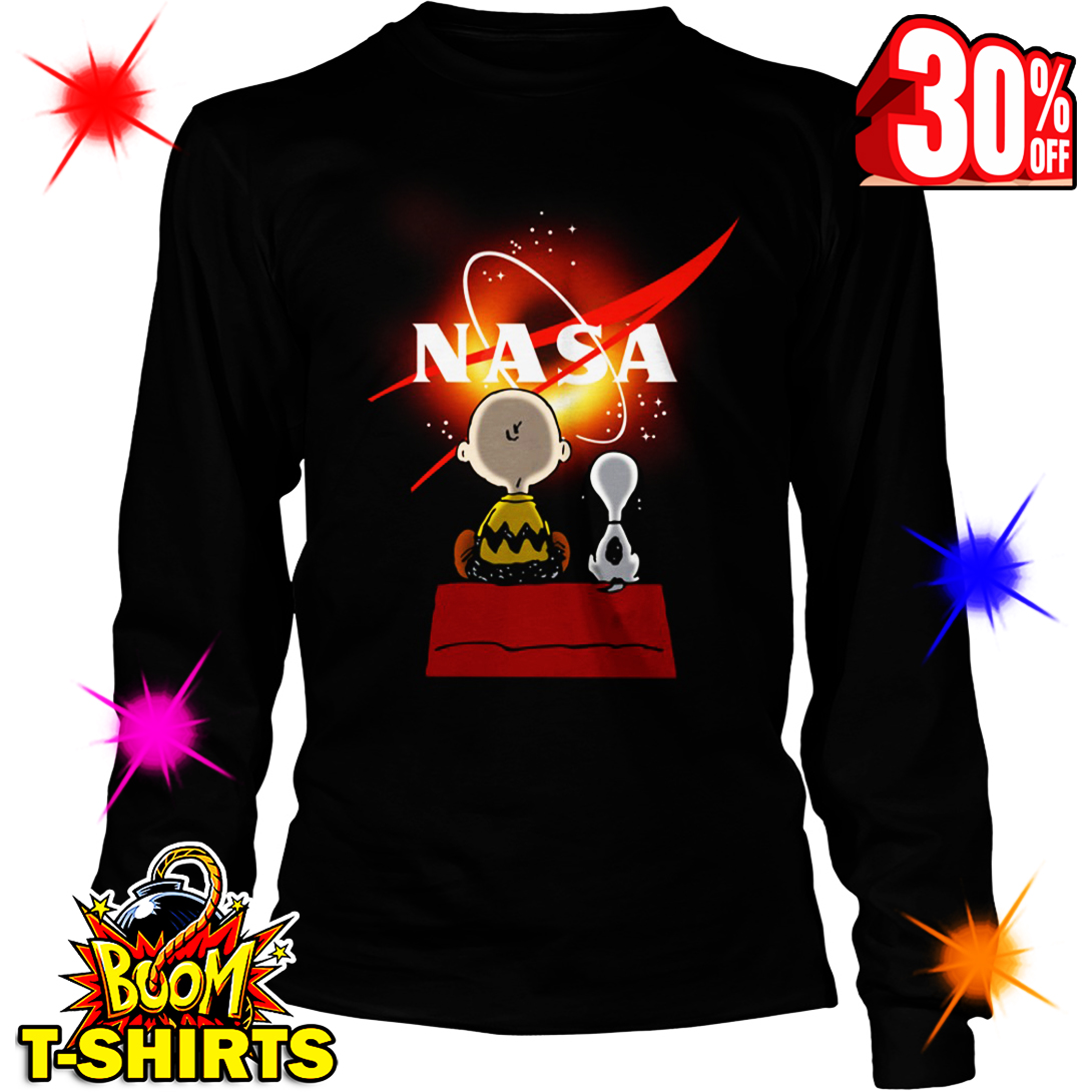 Snoopy and Charlie Brown NASA Black Hole 2019 long sleeve tee