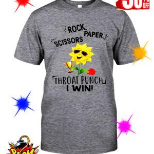 Sunflower Rock Paper Scissors Throat Punch I Win shirt