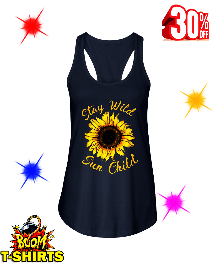 Sunflower Stay Wild Sun Child flowy tank