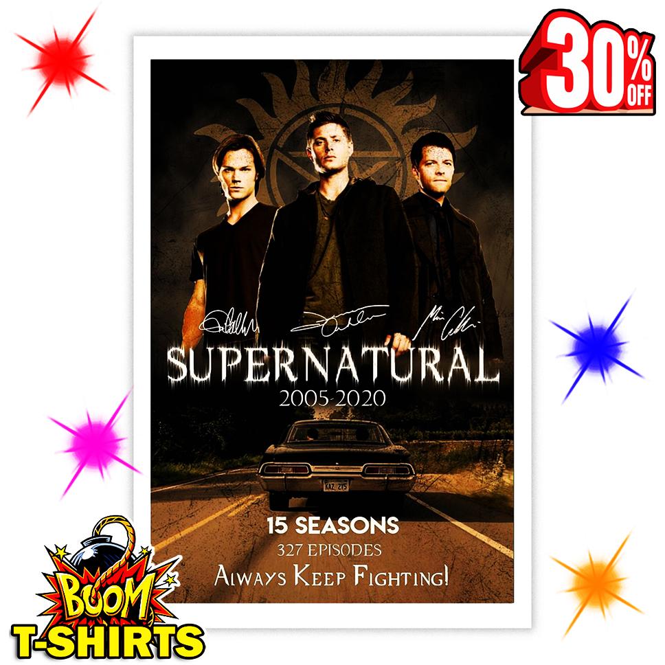 Supernatural 15 Year Anniversary Signature Poster