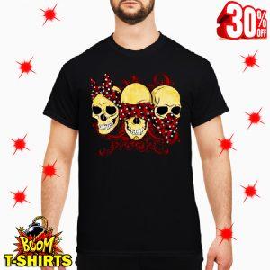 Three Wise Monkeys Drawing Calavera Skull shirt