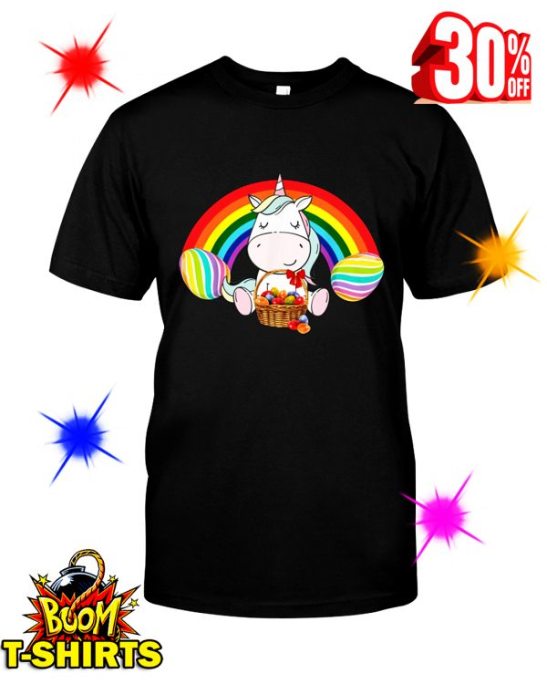 Unicorn Rainbow Easter Eggs shirt