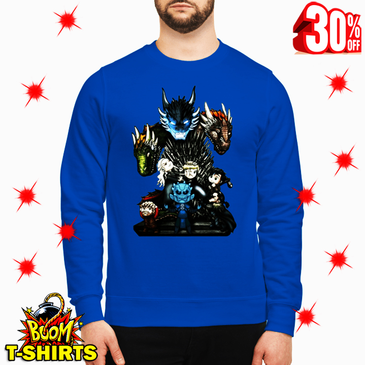 Who Will Be The King Game of Thrones Chibi sweatshirt