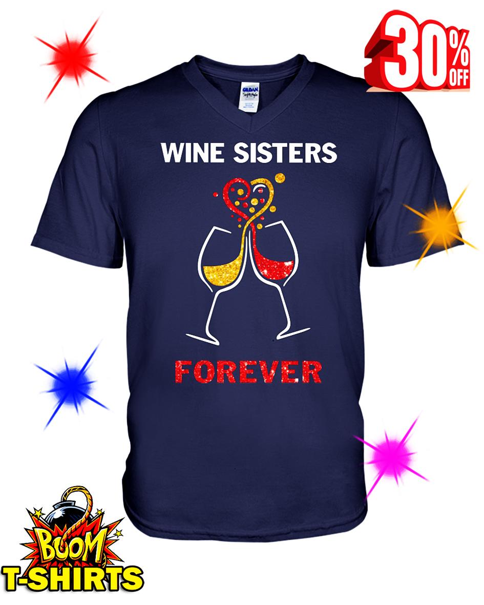 Wine Sisters Forever v-neck