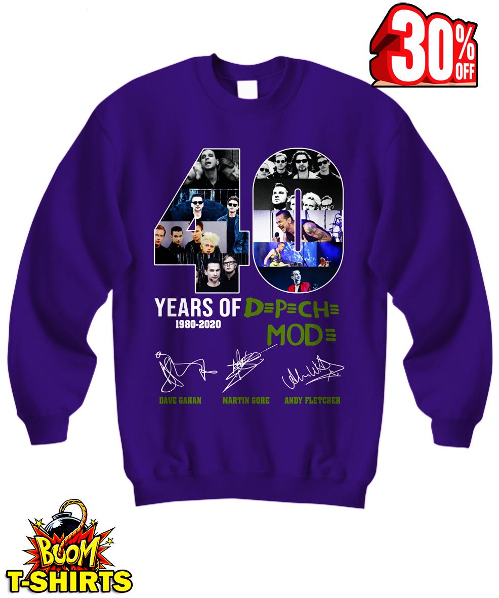 40 Years of Dpch Mod 1980 2020 Signature sweatshirt