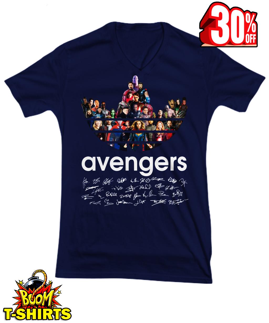 Adidas Avengers Signatures v-neck tee