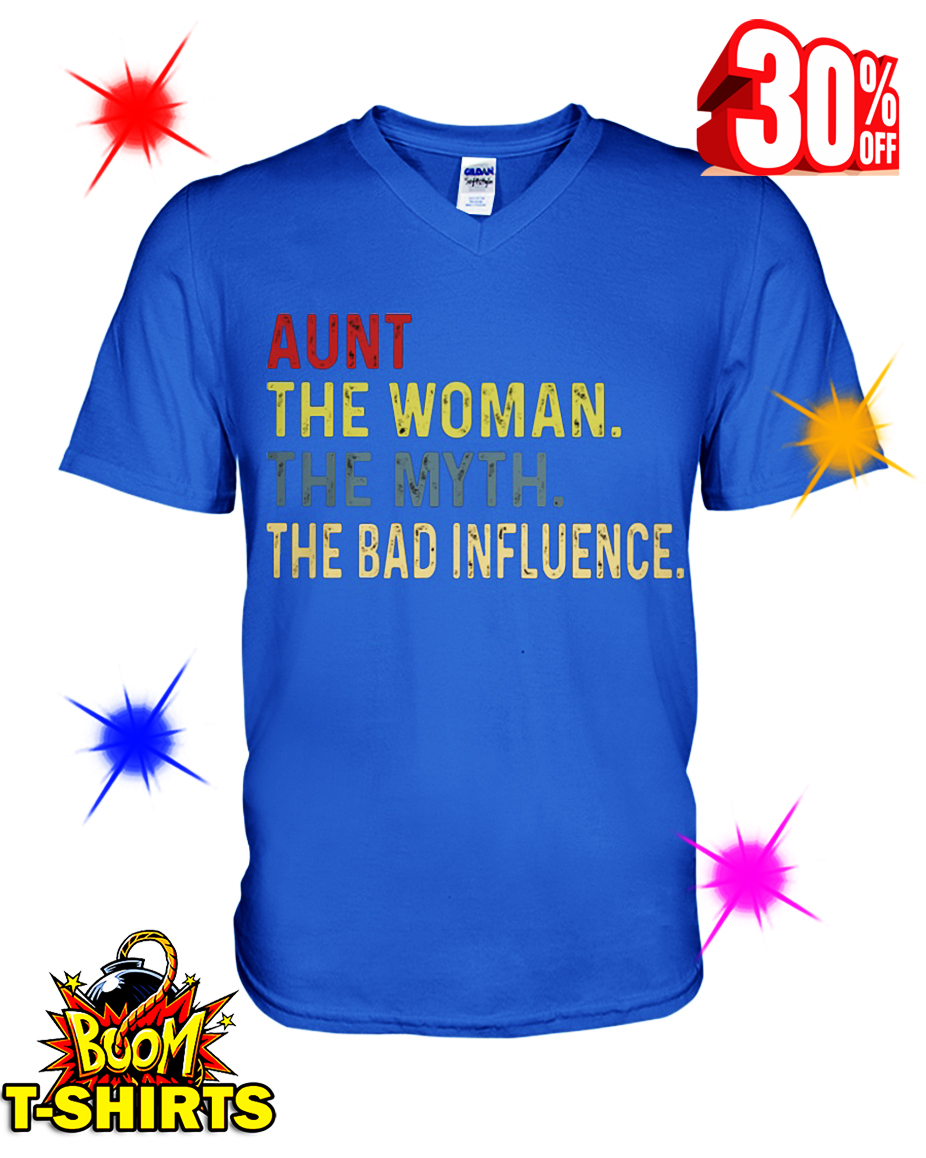 How to buy: Aunt The woman The myth The bad influence Vintage retro shirt