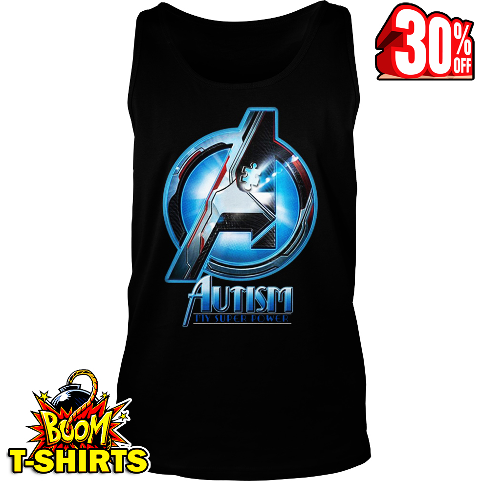 Avengers autism my super power tank top