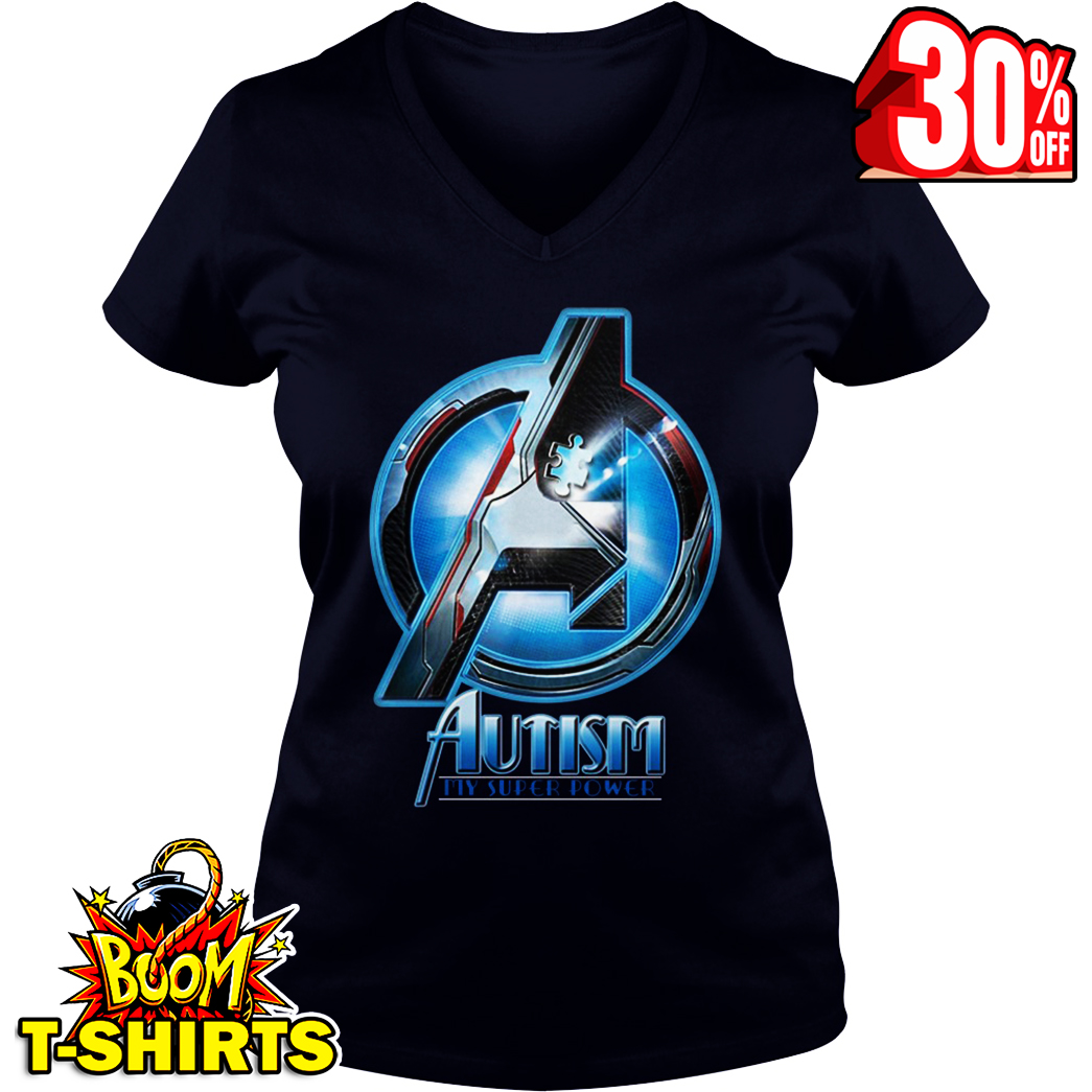 Avengers autism my super power v-neck
