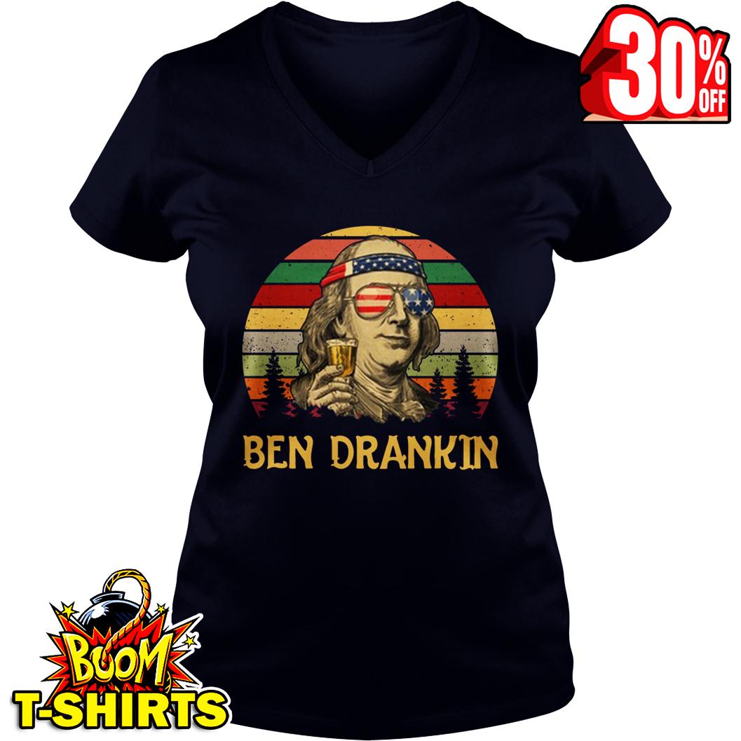 Benjamin Franklin 4th Of July v-neck