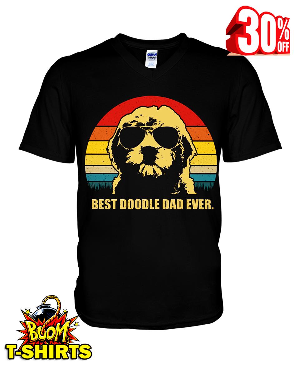 Best doodle dad ever v-neck t-shirt