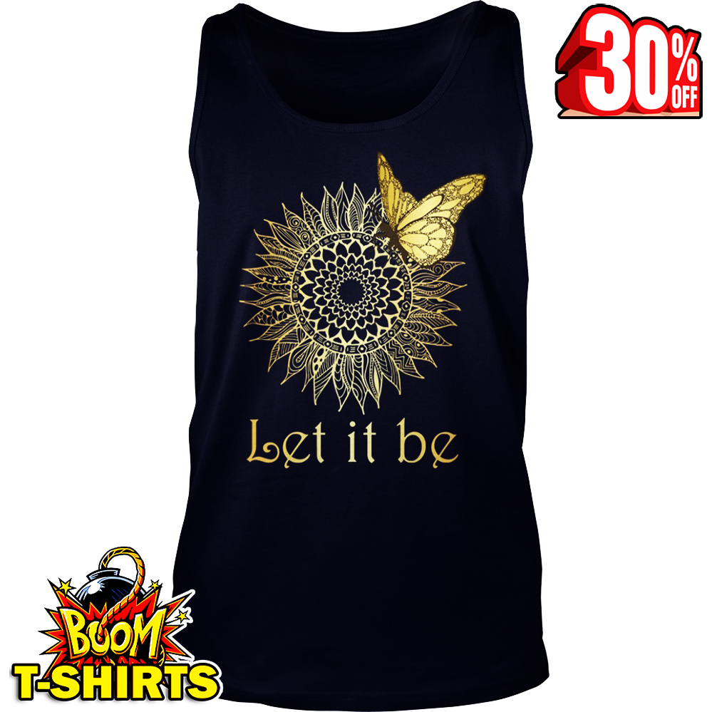 Butterfly flower let it be tank top