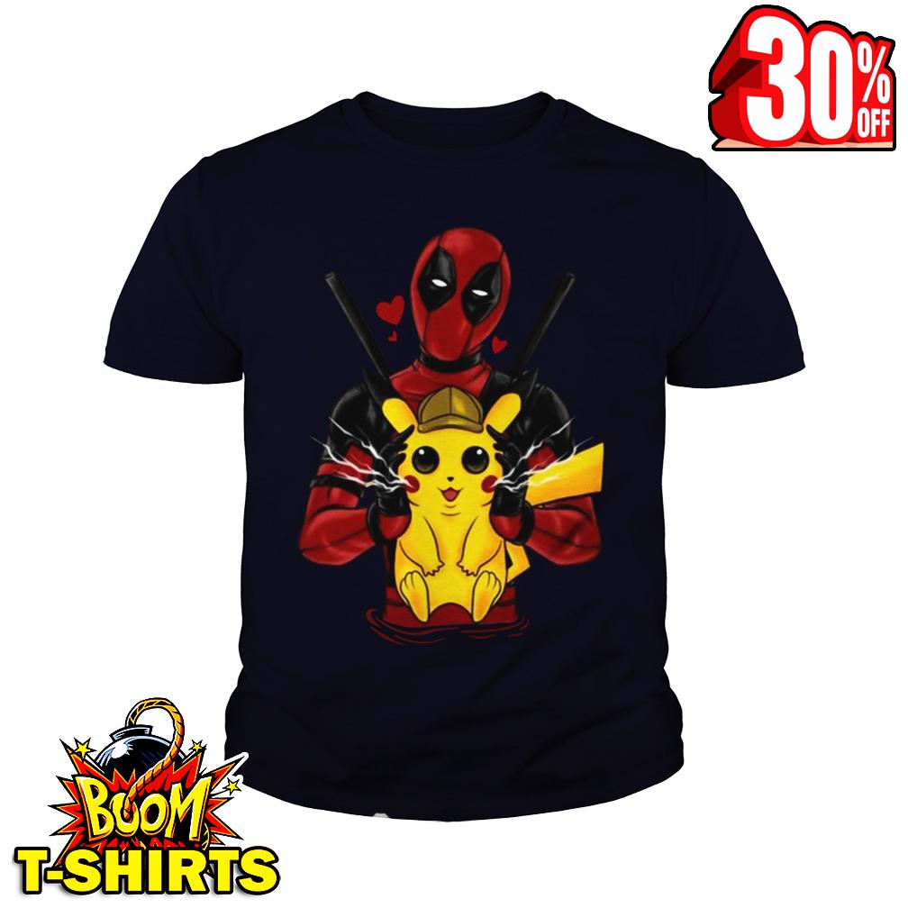 Deadpool hug love Pikachu youth tee