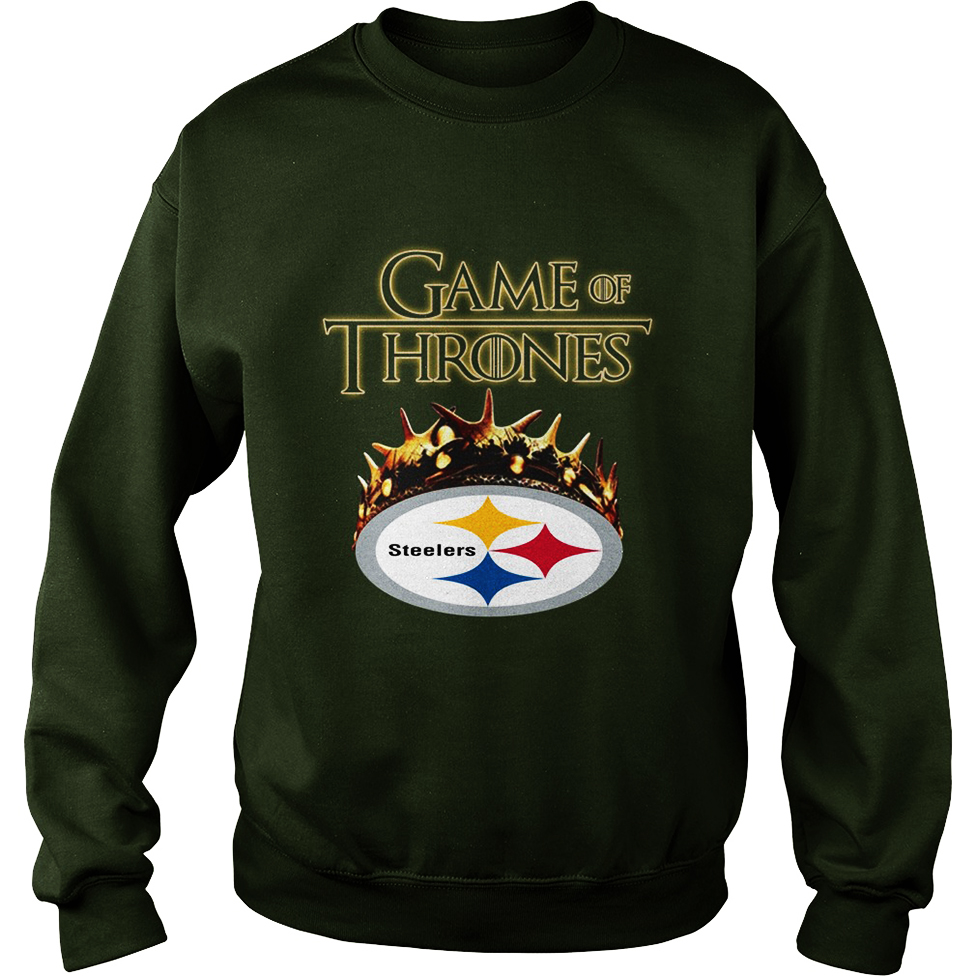 Game Of Thrones Crown Steelers sweatshirt unisex