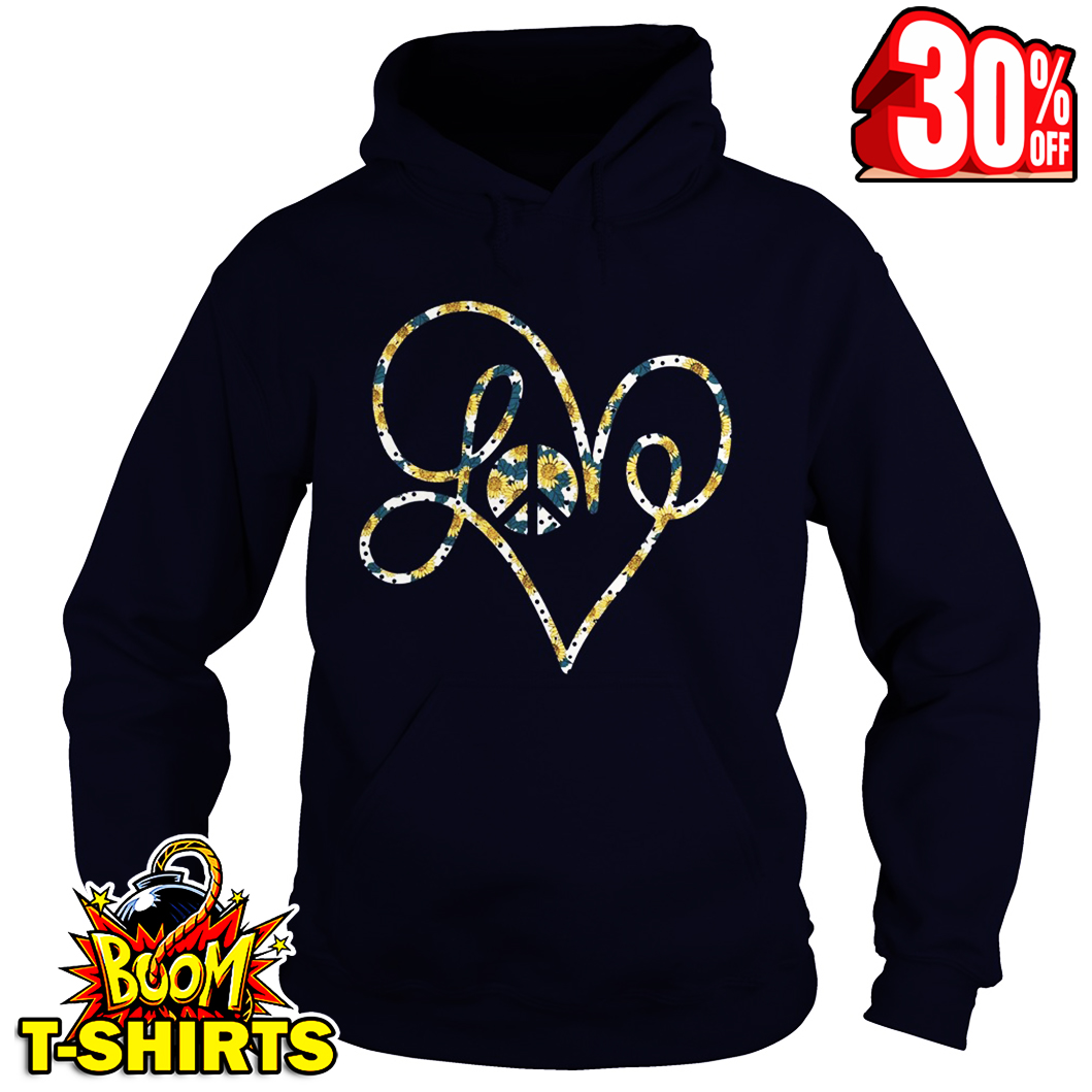 Love Peace Sunflower hoodie