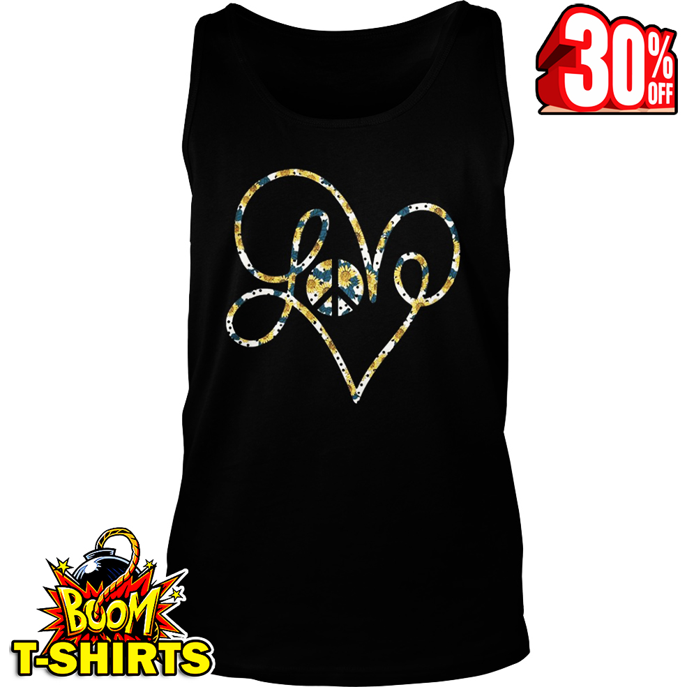 Love Peace Sunflower tank top