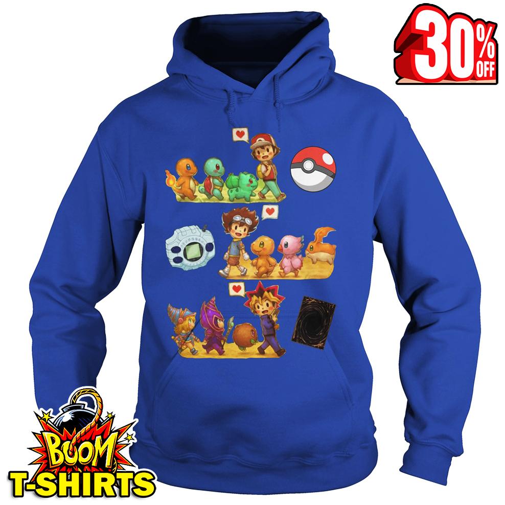 My childhood Pokemon Digimon Yu-Gi-Oh hoodie
