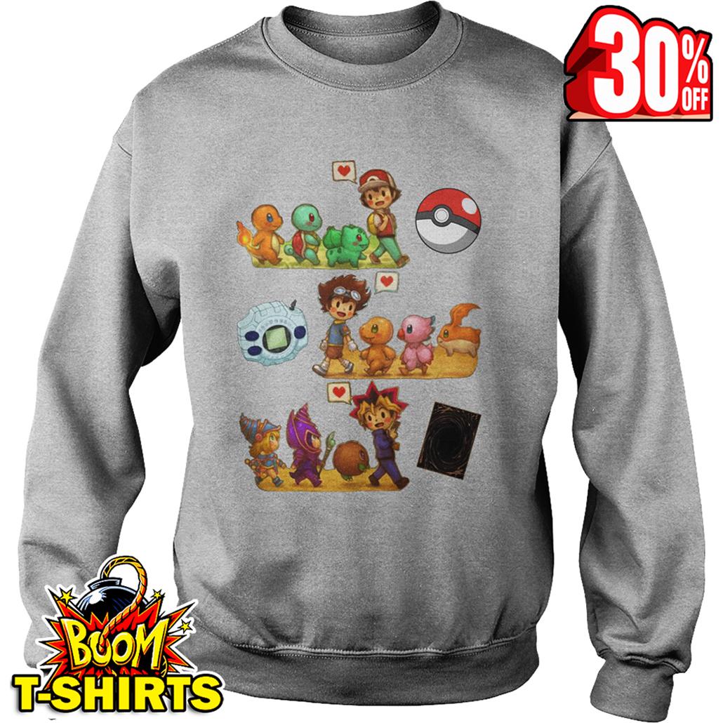 My childhood Pokemon Digimon Yu-Gi-Oh sweatshirt