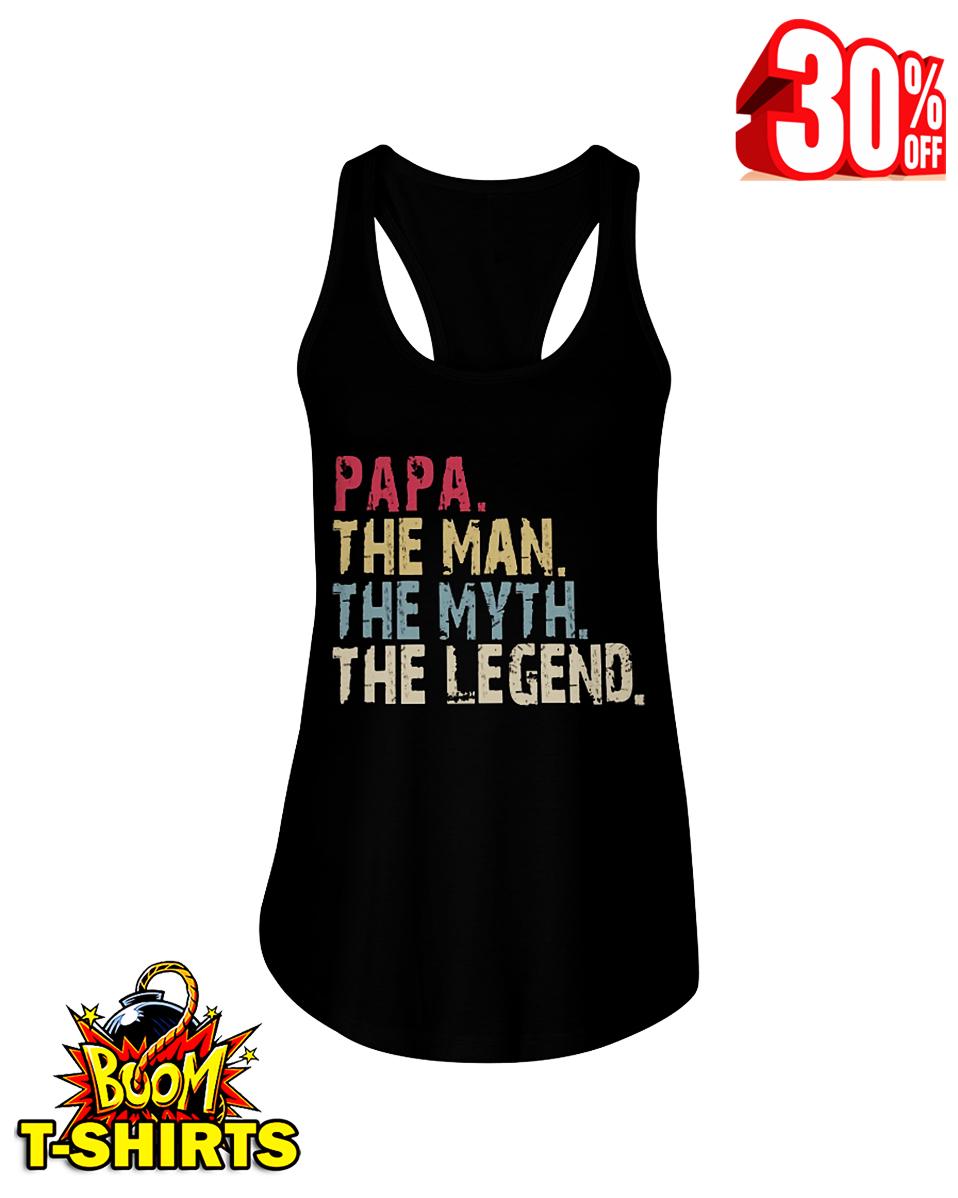 Papa the man the myth the legend vintage retro flowy tank