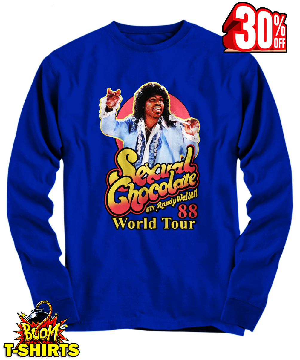 Sexual Chocolate Mr Randy Watson World Tour 88 long sleeve tee
