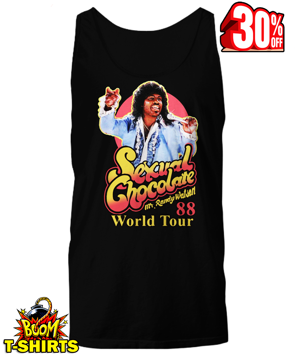 Sexual Chocolate Mr Randy Watson World Tour 88 tank top