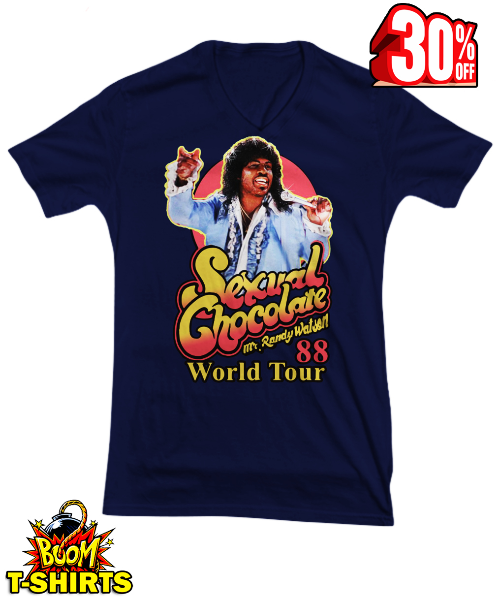 Sexual Chocolate Mr Randy Watson World Tour 88 v-neck tee