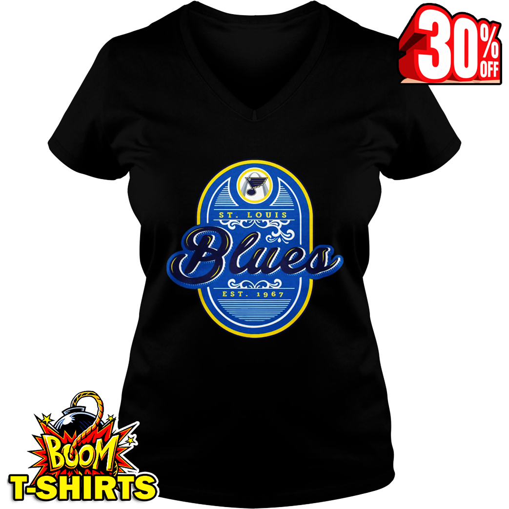 St Louis Hockey 2019 We Want The Cup Playoffs v-neck