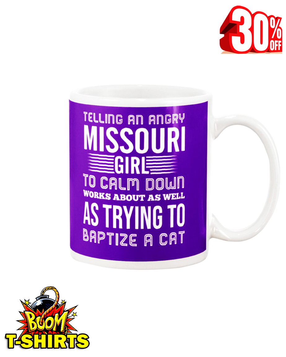 Telling an angry Misouri girl mug - violet
